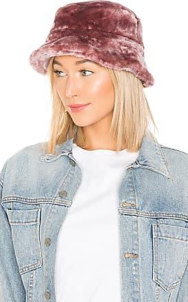 Brixton Hardy Faux Fur Bucket Hat in Mauve