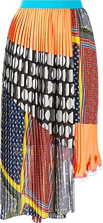 Kolor mix pattern pleated skirt - Multicolour