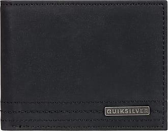 Quiksilver Stitchy Wallet - Bi-Fold Leather Wallet - Men - S - Black