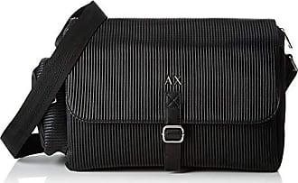 22e9b9257c Armani Logo Messanger With Pocket, Besace homme, Noir (Black), 25x11.