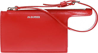 Jil Sander Card Holder With Strap Womens Red