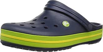 Crocs Crocband, Unisex Adult Clogs, Blue (Navy/Volt Green/Lemon), M9/W10 UK (43/44 EU)