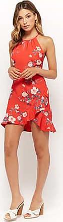 Forever 21 Forever 21 Selfie Leslie Cross-Back Floral Dress Red/pink