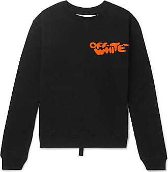 Off-white Logo-print Loopback Cotton-jersey Sweatshirt - Black