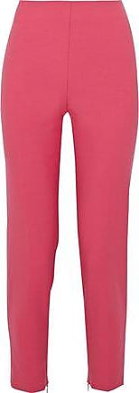 Red Valentino Redvalentino Woman Cropped Crepe Slim-leg Pants Bubblegum Size 48