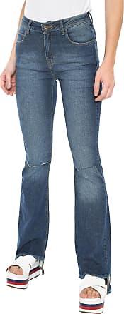 Oh, Boy! Calça Jeans OH BOY Flare Assimétrica Azul