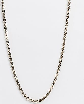 Reclaimed Vintage inspired rope chain necklace in gold