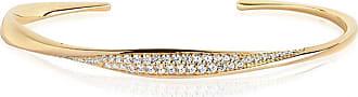 Sif Jakobs Jewellery Bangle Cetara - 18K gold plated with white zirconia