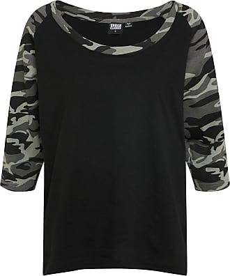 Urban Classics Ladies Cropped Acid Wash Longsleeve Shirt Damen Top T-Shirt