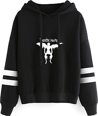 Haililais Death Note Pullover Pullover Sweatshirt Fashion Sweater Outerwear Adult Casual Sports Warm Wild Long Sleeve Men and Women Unisex (Color : Black04, Siz