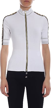2bafa50cb9ae Versace Collection Short-sleeved knitted jacket in white