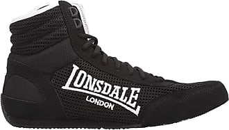 Lonsdale Mens Laced Quilted Mid Cut Contender Boxing Boots (10 UK, Black/White)