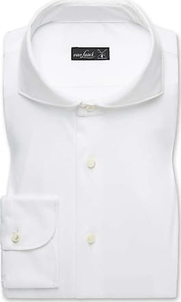 Van Laack Slim Fit Jerseyhemd weiss, Einfarbig