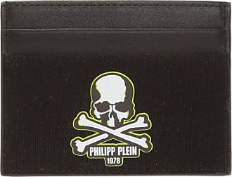 Philipp Plein Card Holder With Logo Mens Black
