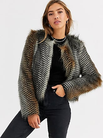 Urban Code short coat in faux feather-Multi
