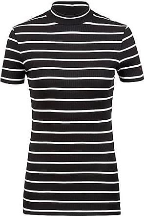 11325a144 HUGO BOSS Slim-fit T-shirt in striped jersey with mock neck