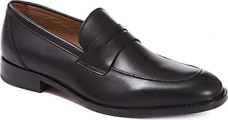 Jones Bootmaker Leather Penny Loafers 316 003 - Black Size 10 (44)