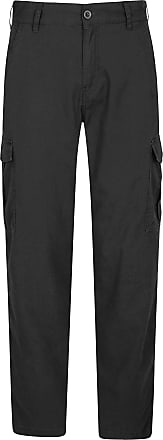 Mountain Warehouse Lakeside Mens Cargo Trousers - 100% Cotton Spring Pant, UV Protection Bottoms, Lightweight, Breathable, Multiple Pockets -for Walking, Hiking, Outdoor
