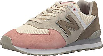New Balance Mens 574 Serpent Luxe Sneaker,Bone with Dusted Peach,4 D US