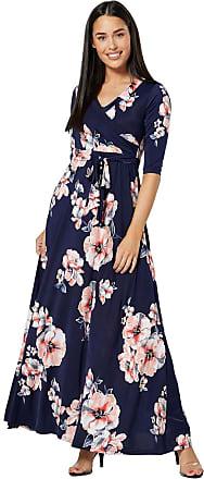 Happy Mama Womens Maternity Nursing Maxi Dress 3/4 Sleeves Double Layered 608p (Style 14, UK 16, 2XL)