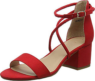 New Look Salamanca, Escarpins Bride Cheville Femme, Rouge (Bright Red 60), 4344c47eb126