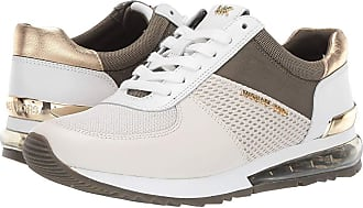 8348acef3ffa Michael Kors Allie Extreme Trainers (Cream Pale Gold Small Air Mesh Oval Net
