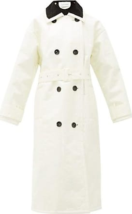 Stand Studio Marissa Coated-canvas Faux-fur Lined Trench Coat - Womens - White
