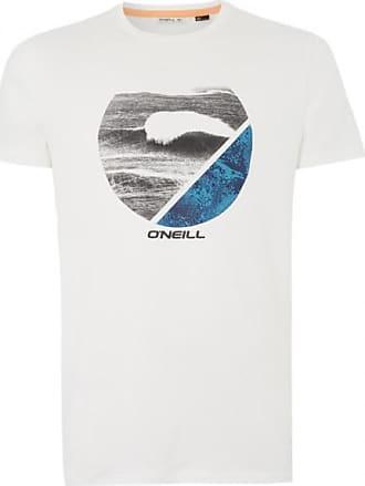 O'Neill Framed Hybrid Tee T-Shirt für Herren   weiß/grau