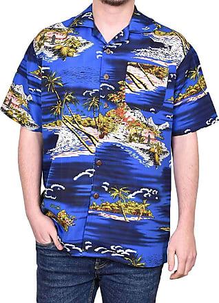 True Face Mens Hawaiian Shirt Funky Short Sleeve Printed Hawaii Top Fancy Ugly Shit Beach Holiday Party Casual Wear (Navy - Montan, XXX-Large)