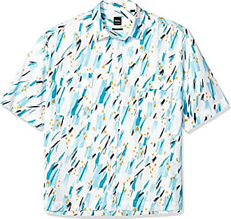Hugo Boss Mens Rhythm Short Sleeve Button Down Regular Fit Shirt