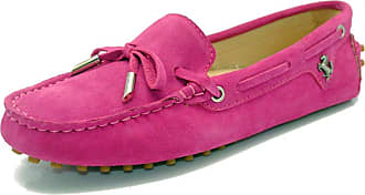 MGM-Joymod Ladies Womens Casual Slip-on Knot Pink Suede Leather Walking Driving Loafers Flats Moccasins Hiking Shoes 6.5 M UK