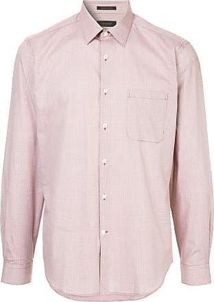 Durban micro check shirt - Red