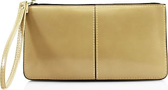 LeahWard Womens Faux Leather Wristlet Purse Nice Bag Great Brand Purses 20146 (BEIGE)