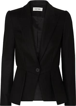 Cefinn Wool-blend Twill Peplum Blazer - Black