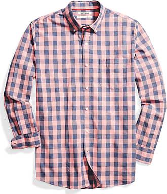 Goodthreads Mens Standard-Fit Long-Sleeve Plaid Oxford Shirt