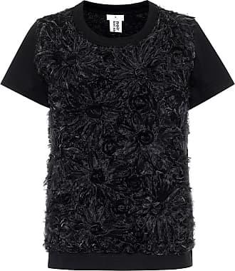 Comme Des Garçons Embroidered cotton top