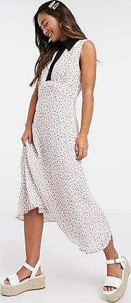 Finery Ellerdale Printed Georgette Dress-Pink