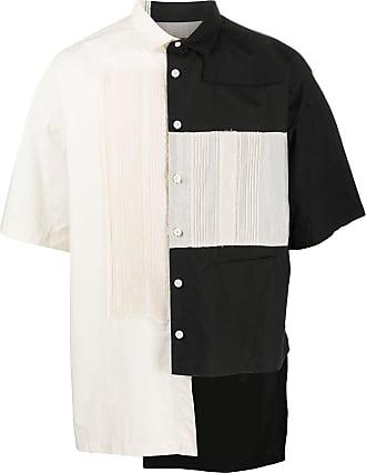 Ziggy Chen asymmetric hem layered shirt - Black