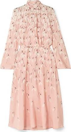 8ee58a2302b75 Valentino Floral-print Silk Crepe De Chine Midi Dress - Pink