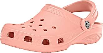Crocs Unisex-Adults Classic Clogs, Pink (Melon), M8 /W9 UK ( 42/43 EU )