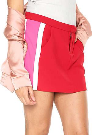 511a493c79ae9 Calvin Klein Jeans Saia Calvin Klein Jeans Curta Recortes Vermelho