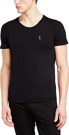 Religion Mens Logo Crew Neck Short Sleeve T-Shirt, Black, Medium