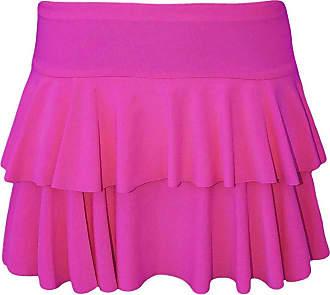 21Fashion Womens Mini RARA Skirt Ladies Dance Club Party Fancy Dress Frill Short Skirt Hot Pink Large/X-Large