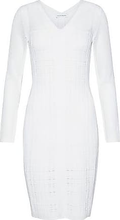 6e85e8b9c3a Narciso Rodriguez Narciso Rodriguez Woman Paneled Open-knit Wool-blend Dress  White Size 38