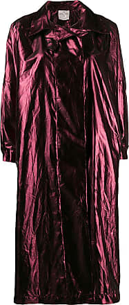 Forte_Forte metallic boxy-fit coat - Red