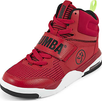 Zumba Air Classic Remix High Top Fitness Workout Dance Shoes for Women, Red, 10.5 UK