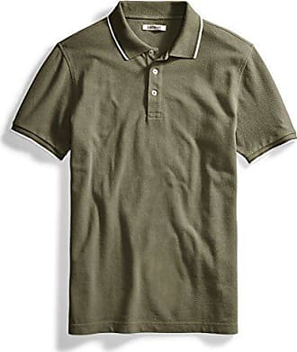 Goodthreads Mens Short-Sleeve Washed Pique Polo Shirt, Olive, Medium