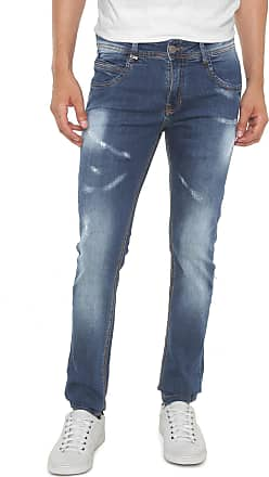 Zune Jeans Calça Jeans Zune Slim Estonada Azul