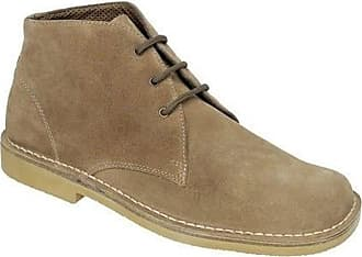 Roamers Mens M378 Sand Suede New Mens Desert Boots Shoes-10