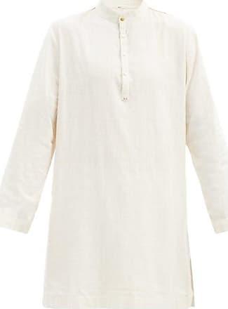 11.11 / eleven eleven 11.11 / Eleven Eleven - Band-collar Cotton Tunic - Mens - Cream